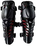 Fox Raptor1 Motorcycle Racing Knee Guard Pad (Black and Red, Set of 2)