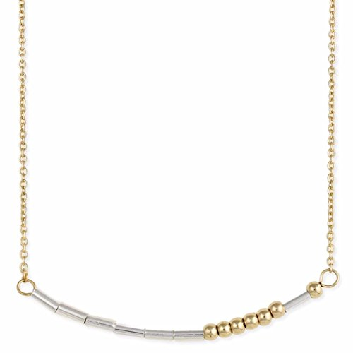 Zen Styles Morse Code Necklace 'MOTHER' - Secret Message Inspirational Loving Box Chain Necklace, Two-Tone, Adjustable 16