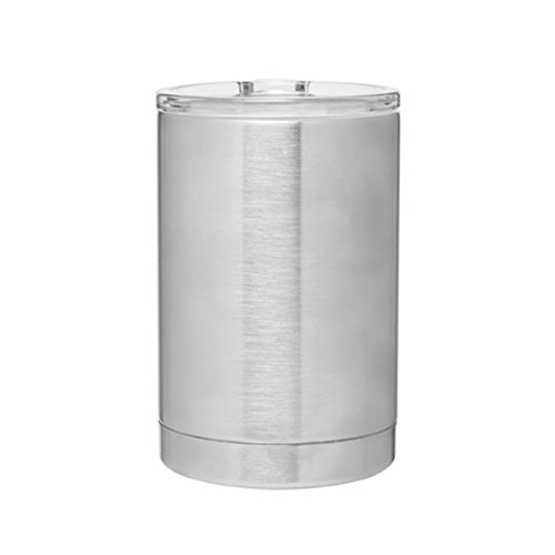 eel Can Cooler, Bottle Insulator and Hot/Cold 11oz. Capacity Thermal Tumbler - Brushed Stainless ()
