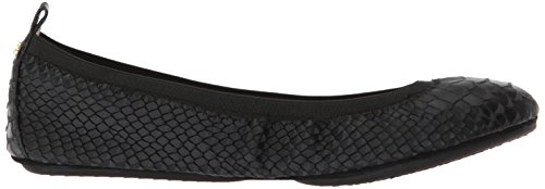 Black Samra Yosi Frosted Samara Women's Croco Flats 415 xwqfFYq1