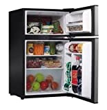 Whirlpool Compact Refrigerator Freezer Fridge Kitchen Appliance Counter Depth Small Stainless Steel Mini