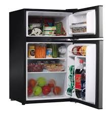 Whirlpool Compact Refrigerator Freezer Fridge Kitchen Appliance Counter Depth Small Stainless Steel Mini by Whirlpool