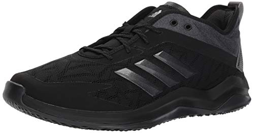 adidas Men's Speed Trainer 4 Baseball Shoe, Black/Night Metallic/Carbon, 12 M US