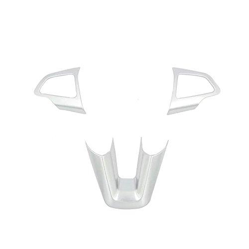 Emblem Trading Lenkrad Rahmen Chrom Matt Silber Mittelkonsole Armaturenbrett Verkleidung Autozubeh/ör Tunning