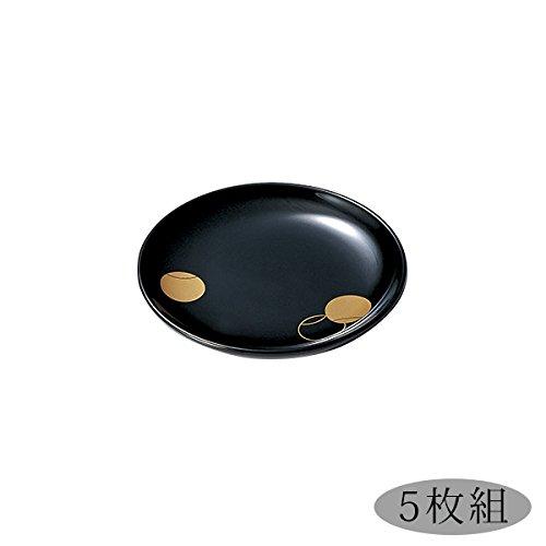 つぼつぼ 銘々皿 黒 5枚組 B017G9XHZC