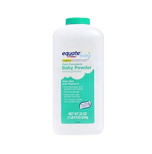Equate Pure Cornstarch Baby Powder With Aloe and Vitamin E, 22oz by Judastice
