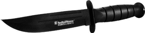 Smith and Wesson CKSUR2 Bullseye Search and Rescue 10.5″ Fixed Blade Powder Coat with Sheath, Outdoor Stuffs