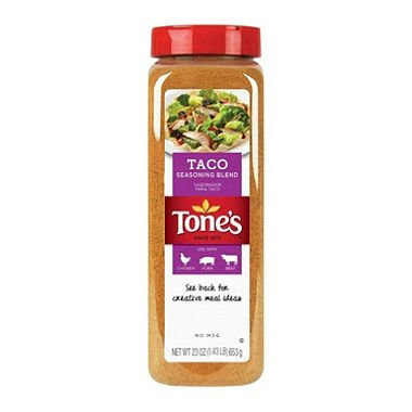 Tone's Taco Seasoning 23 oz. (pack of 2) total 46 oz (Tones Pepper Seasoning Garlic)