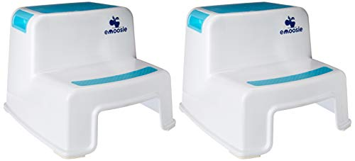 Best Prices! Step Stool for Kids by Emoosie (2 Pack) - Toddler seat for Toilet/Potty & Sink Training...