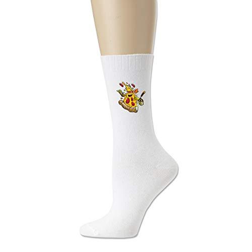 BuecoutesPizza Ninja Comfort Walking Crew Socks