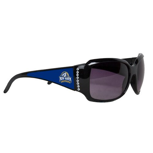 New Haven Ladies Black Rhinestone Sunglasses 'Official Logo' by CollegeFanGear
