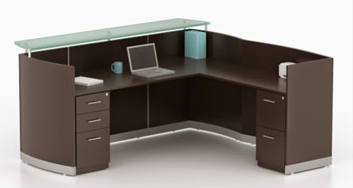 Mayline L Shaped Reception Desk Dimensions: 87 1/4
