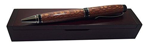 Bendecidos Pens Handmade-Leopard Wood Pen-Titanium Metal, Black