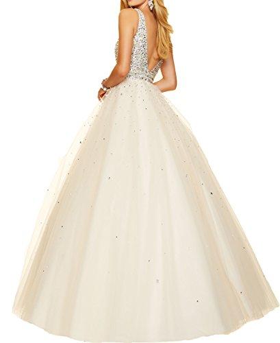 Puffy V Luxury BONBETE Dresses Blue Shinning Neck Deep Blue Sexy Royal Beaded Bodice Prom 1wRqEZ8R4