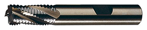 Cleveland C30744 M42 6-Flute, Non-Center Cutting, Coarse Profile, Cobalt Rougher, 1.25