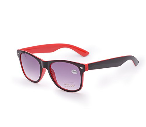 nbsp;marrón 4sold para Reader Mujer lectura 4sold Negro sol Estilo de de de UV lectores hombre Rojo 5 gafas carey sol gafas marca Unisex UV400 1 nbsp;fuerza nn7Uqg