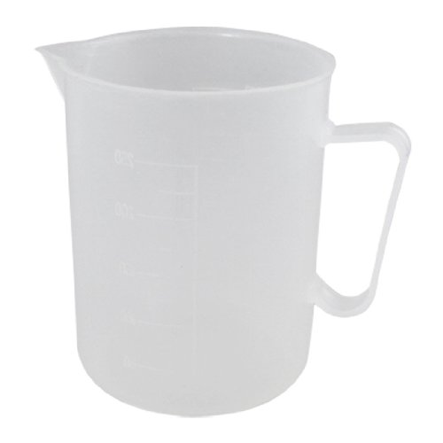 uxcell Laboratory Chemistry Set Clear White Plastic Handle Design Cup Beaker 250mL