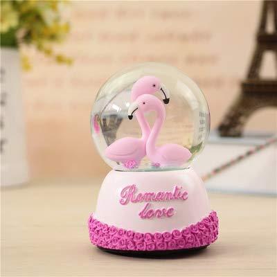 vt bighome wedding gift wedding room gift couple gifts flamingo crystal ball rotating music box fashion