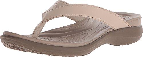 Crocs Women's Capri Flip-Flop, Chai/Walnut, 8 M US
