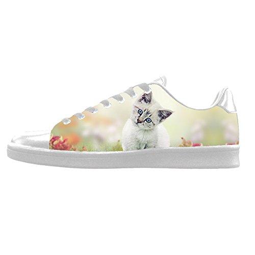 Custom Gatti di pittura Mens Canvas shoes I lacci delle scarpe in Alto sopra le scarpe da ginnastica di scarpe scarpe di Tela.