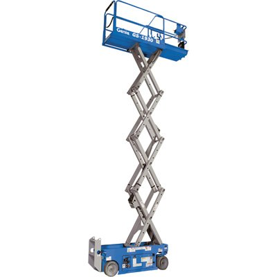Genie GS-1930 Self-Propelled Electric Scissor Lift, 500 lbs Platform Load Capacity, 19' Lift Height ()