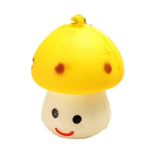 Squishy Mushroom Little Cute Toy Scented Key Chain Phone Bag Strap Pendant Decor Gift (Cute Homemade Ladybug Costumes)