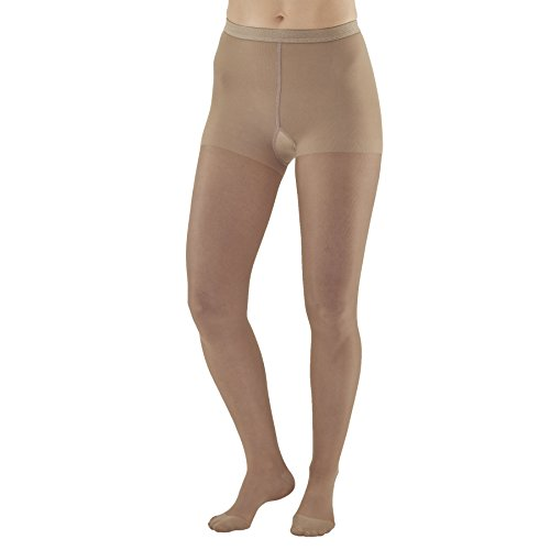 Ames Walker Women's AW Style 33 Sheer Support Closed Toe Compression Pantyhose - 20-30 mmHg Nude X-Large 33-XL-NUDE Nylon/Spandex (Ames Walker Compression Pantyhose)