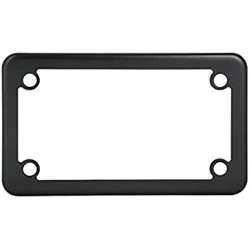 Ferreus Industries Vertical Flame Fire Black Powdercoat License Plate Frame Cover LIC-158-Black