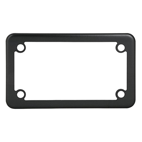 Grand General 60394 Matte Black Powder Coated Motorcycle Plain License Plate ()