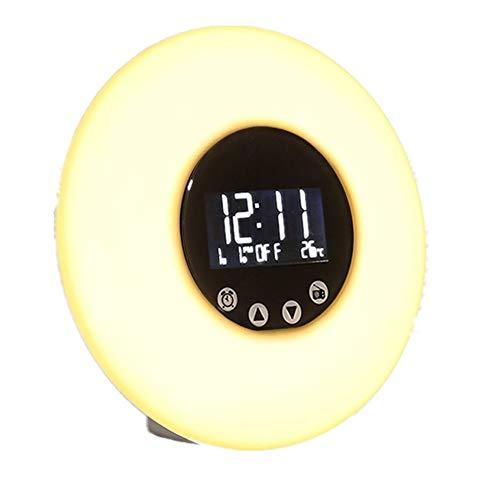 Price comparison product image MINGPOND Wake up Light Alarm Clock Remote Control Sunrise Simulation Digital Alarm Clock / FM Radio / Night Light / Date / Temperature Colorful Illumination DC 5V Tap / Remote Control Kids Night Light