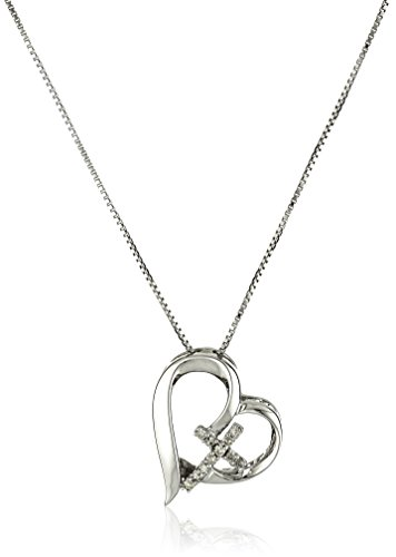 Sterling Silver Diamond Accent Open Heart