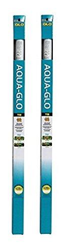 Aqua-GLO 2 Pack of T8 Fluorescent Aquarium Bulbs, 24 Inch, 20 Watt