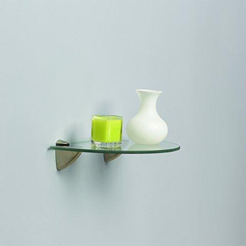 اسعار Shelf-Made KT-0134-812SN Curved Glass Shelf Kit, Satin Nickel, 8-Inch by 12-Inch