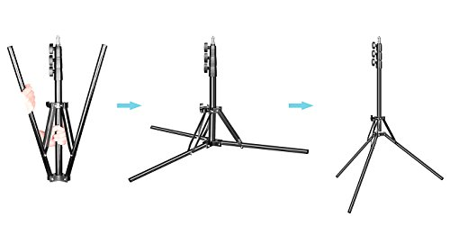 Emart 6ft Photography Compact Light Stand - Reverse Folding Leg, Portable Travel Tripod Stand for Photo Video Studio Lighting Stand - Ring Light, Softbox, Reflector, Camera Flash/Speedlight/Strobe
