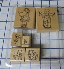 Stampin' Up! - From the Heart Valnetines stamp set - 7 wood mounted rubber stamps - RETIRED 2000 (Retired Rubber)