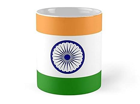 Amazon.com: Taza con diseño de bandera de la India – Taza de ...