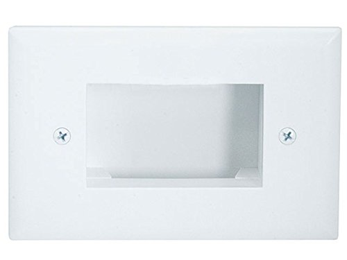 Monoprice Easy Mount Low Voltage Cable Recessed Wall Plate,