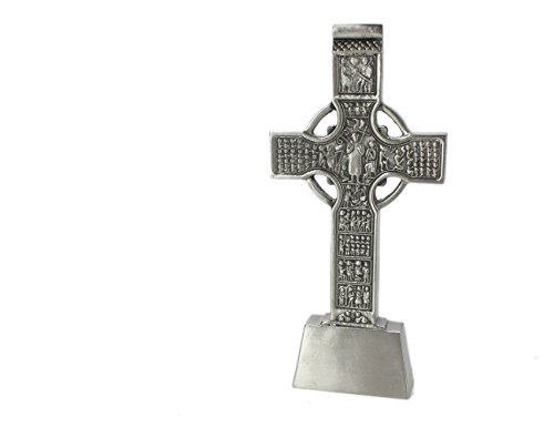 Standing Celtic Cross Stainless Steel & Pewter Made in (Silver Celtic Cross Stones)