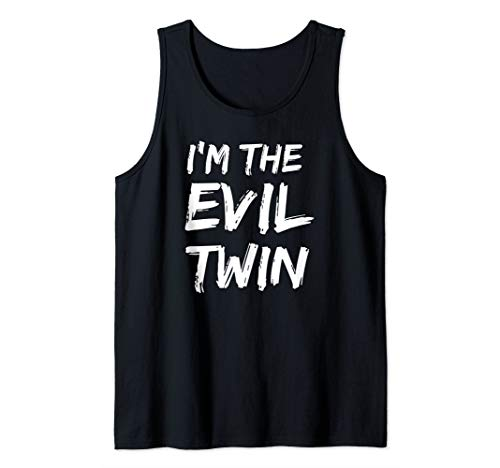 I'm The Evil Twin Funny Halloween Siblings Matching Outfits Tank Top