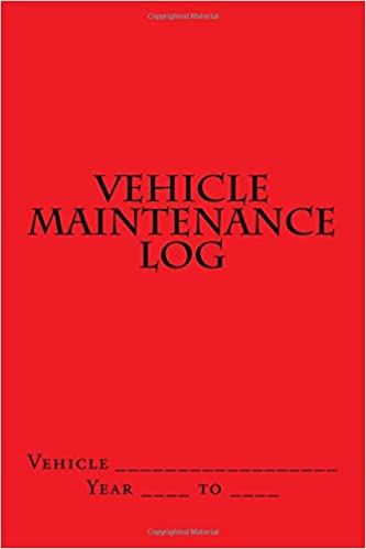 Vehicle Maintenance Log Red Cover S M Car Journals S M