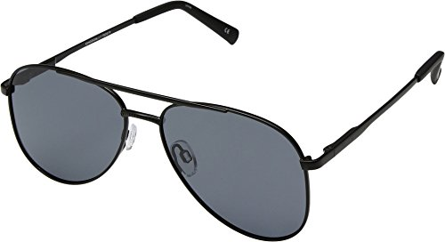 Le Specs Women's Kingdom Aviator Polarized Sunglasses, Matte Black/Smoke Mono, One - Aviator Specs
