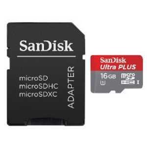 SanDisk Ultra plus microSDHC UHS-I card 16GB SDSDQUPN-016G-J35A