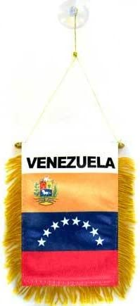 AZ FLAG BANDERIN de Venezuela 15x10cm con Ventosa - BANDERINA VENEZUELANA 10 x 15 cm para Coche: Amazon.es: Hogar