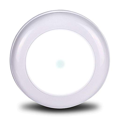 WOOPHEN Wireless Battery Powered Motion Sensing Indoor LED Ceiling Light, 180 Lumens, White Night Light