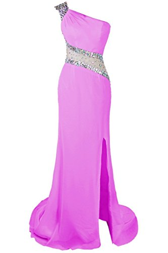 Dresstore Women's One Shoulder Beaded Prom Dress Evening Party Gowns Side Split Lilac US 14