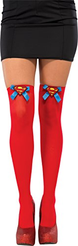 Rubie's Costume Co Women's DC Superheroes Thigh Highs, Supergirl (Batman Thigh High Socks)