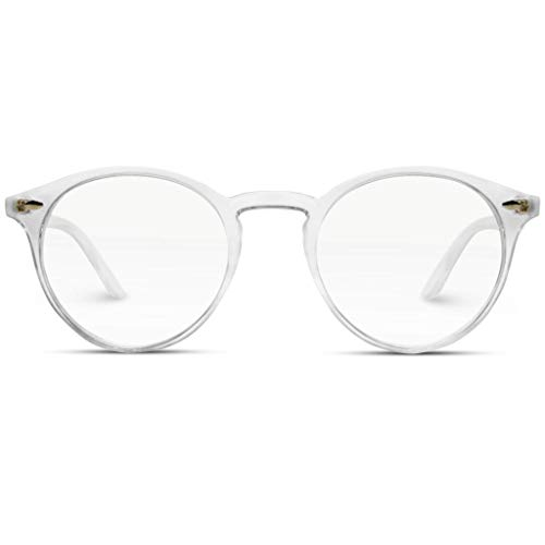 WearMe Pro - Transparent Clear Frame Round Hipster ()