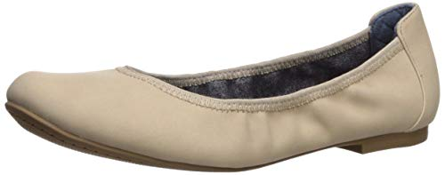 Dr. Scholl's Shoes Women's Feel Good Ballet Flat, Port Beige Smooth, 7.5 M US