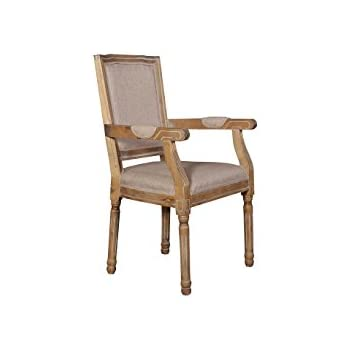 Amazon.com - Rustic Distressed Dining Room Chair, Round back Kitchen ...