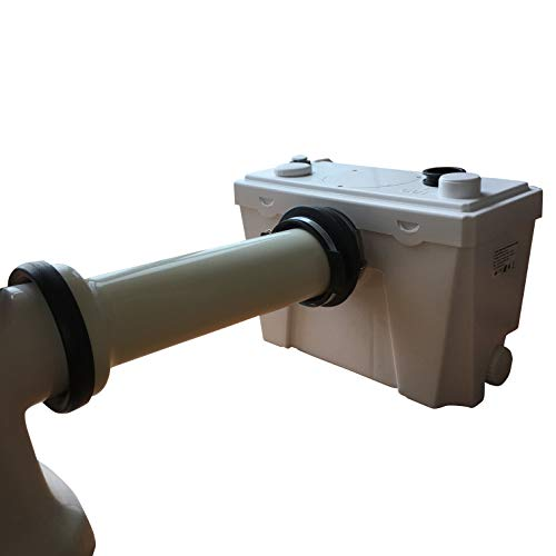 Sanimove 400W Macerator Pump Toilet Three Piece Round Bowl Toilet with  Macerating Pump Macerating Upflush Toilet Kit Macerating Toilet